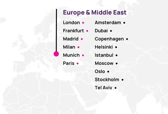 Map of EMEA